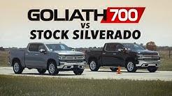 GOLIATH 700 vs Stock 2020 Chevy Silverado Drag Race
