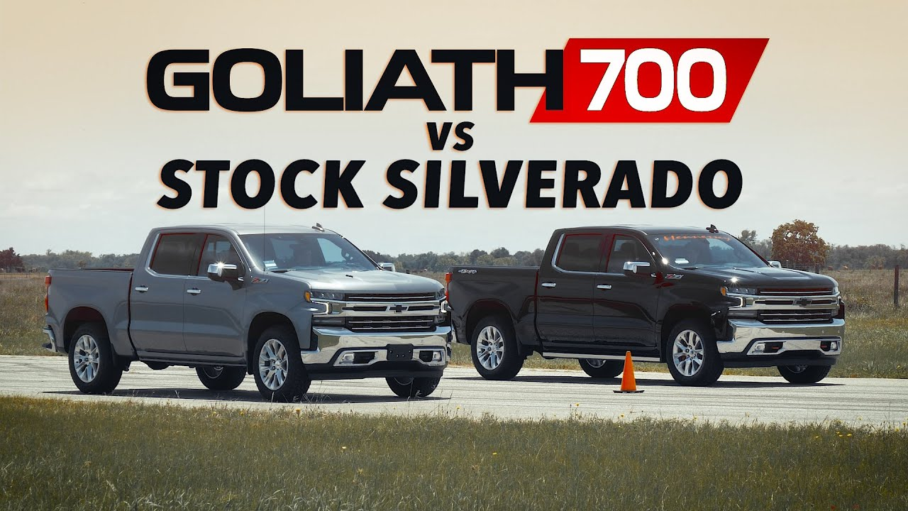 Goliath 700 Vs Stock 2020 Chevy Silverado Drag Race Youtube