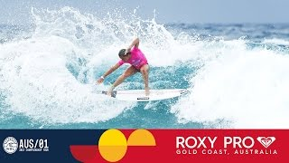 Courtney Conlogue's Strong Showing in Round One - Roxy Pro Gold Coast 2017