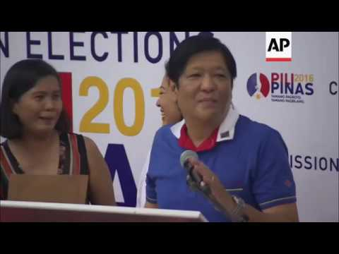 Marcos Jr. to stand  for vice president