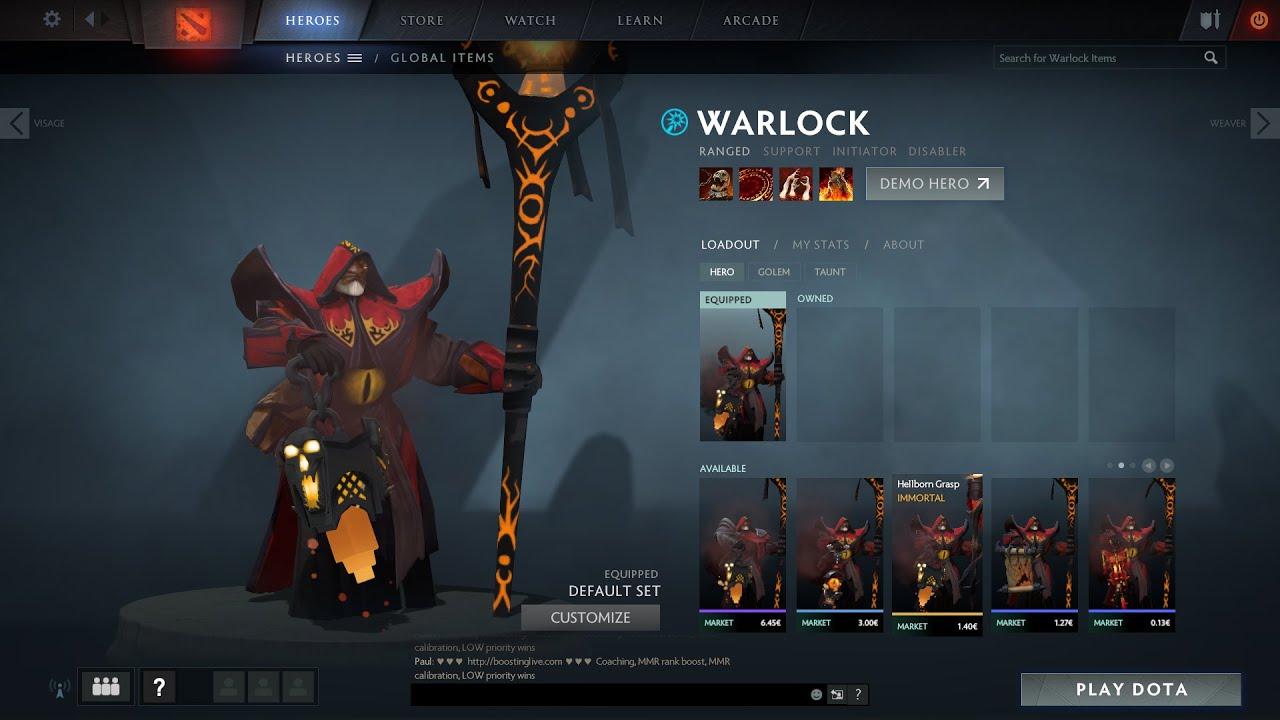 dota 2 warlock gameplay demo youtube