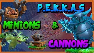 BH8 ATTACK STRATEGY | BH8 ATAQUES | P.E.K.K.A.S , MINIONS & CANNONS | 80%+| CLASH OF CLANS