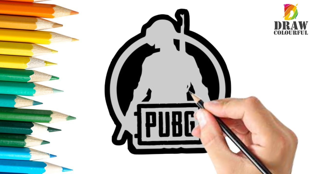 How To Draw Pubg Logo Playerunknowns Battlegrounds Youtube