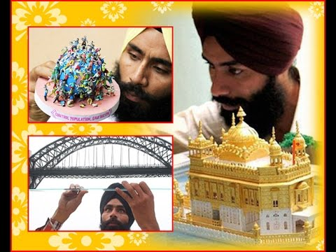 Paper artist Gurpreet Singh from Amritsar with his creations on Ajit Web TV.