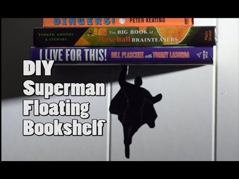 DIY Superman Floating Bookshelf