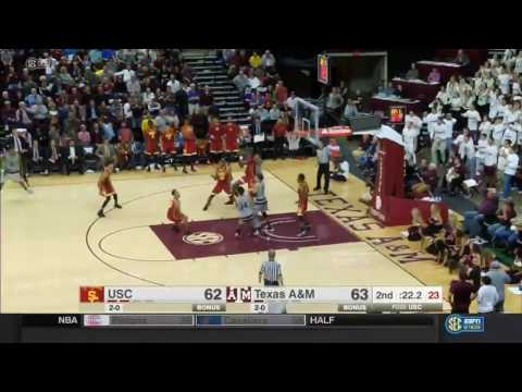 Men's Basketball: USC 65, Texas A&M 63 - Highlights 11/18/16