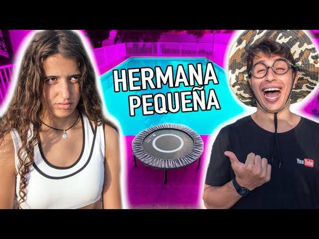 COMPETICIÓN de SALTOS vs HERMANA PEQUEÑA!! HERMANOS SALTANDO en la PISCINA!!