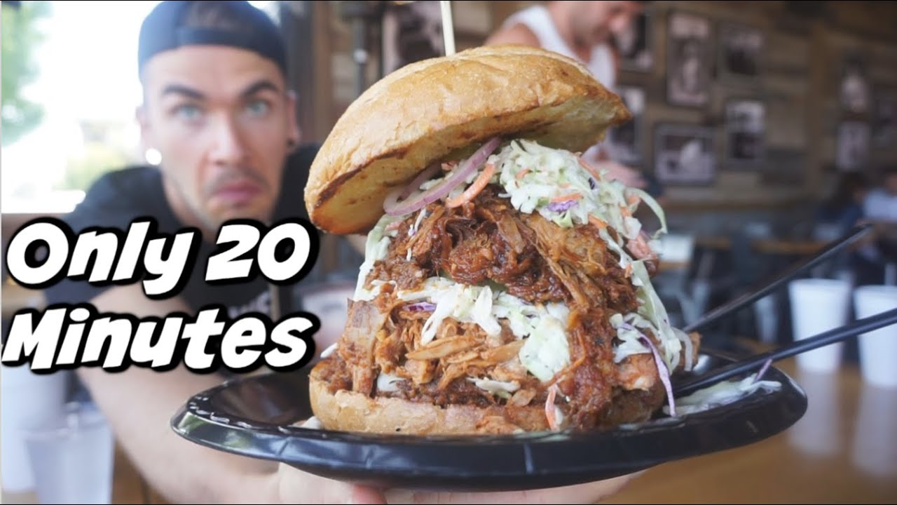 BEAST BBQ Sandwich Challenge W/ Raina Huang! California BBQ | Los Angeles | Man Vs Food