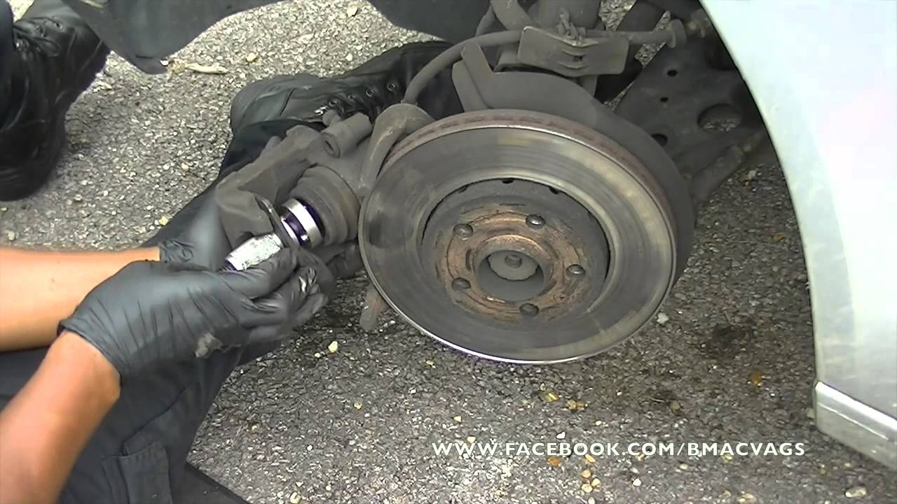 How To Change Brake Pads Amp Rotors On A Vw Polo Youtube