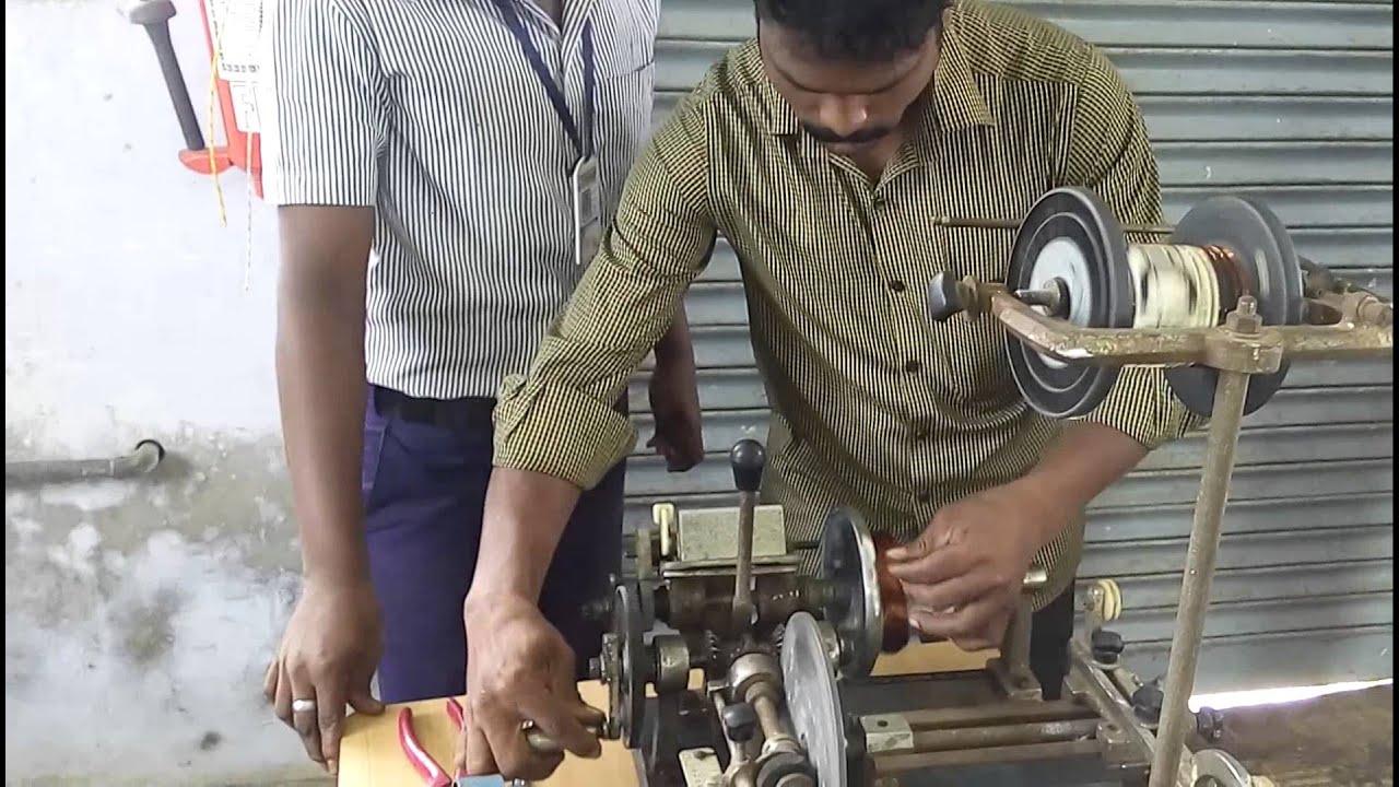ELECTRIC MOTOR REWINDING WORK - DEMO IN GOVT ITI TRICHY - YouTube