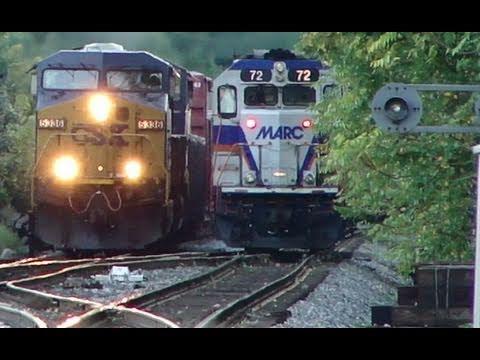 CSX & MARC Trains Meet