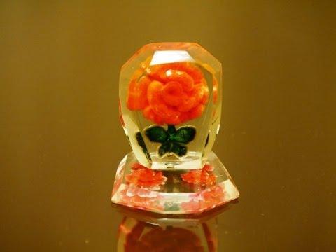 Роза в оргстекле-2. Изготовление. Rose in plexiglass . Production