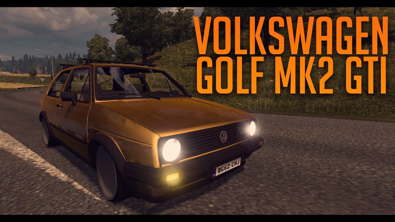 Vw Golf Mk2 Gti Euro Truck Simulator 2 Ets2 1 30 Mod