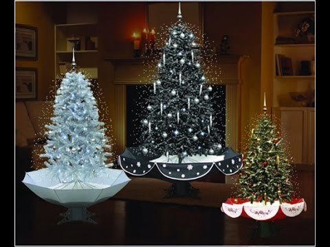 led lights musical snowing christmas tree with umbrella shape base - Snowing Christmas Decoration