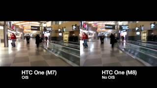 HTC M7 vs M8 - OIS Demonstration