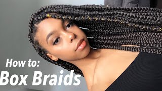 How to do Box Braids on Yourself | Beginner Friendly