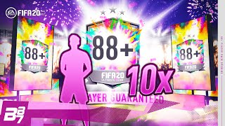 10 x 88+ GUARANTEED PLAYER UPGRADE PACKS! | FIFA 20 ULTIMATE TEAM