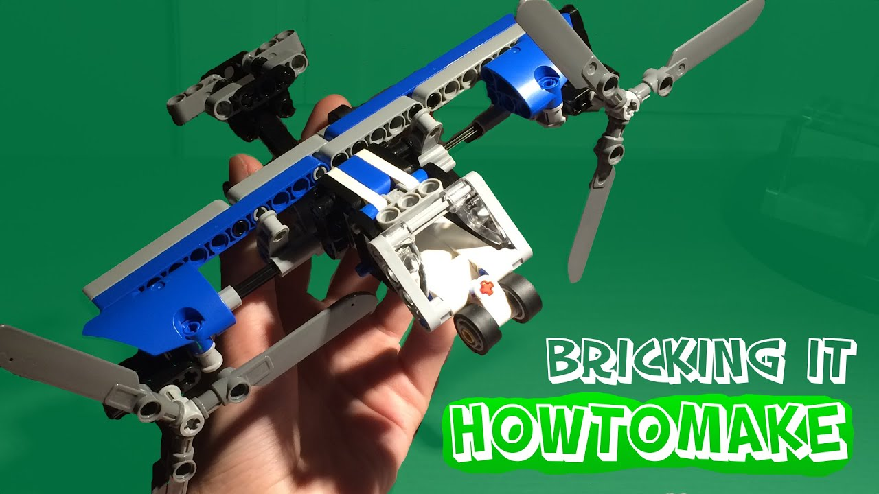 how to make a lego twin rotor plane moc alternative from. Black Bedroom Furniture Sets. Home Design Ideas