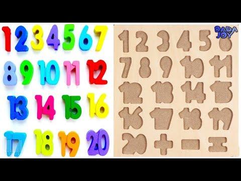 Aprenda 1 a 20 Números Para Niños Contando Números Números Mágicos 1 a 20 123 Aprendiendo para niños