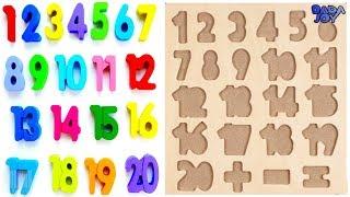 Aprenda 1 a 20 Números Para Niños|Contando Números|Números Mágicos 1 a 20|123 Aprendiendo para niños