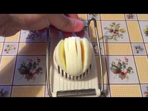 Как порезать яйца соломкой