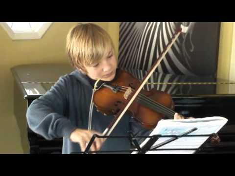 'Sakura' Japanese folk song on violin by Jonah