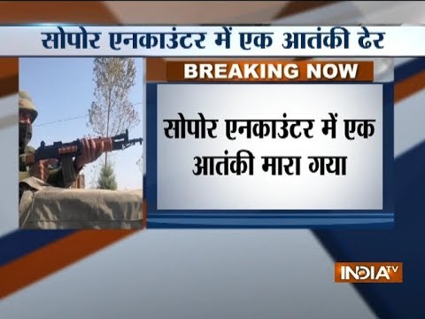 Militant killed in encounter with security forces in Jammu & Kashmir`s Sopore