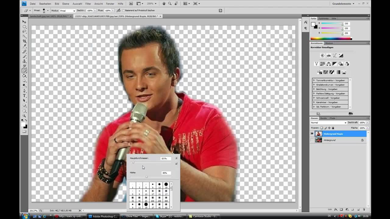 Hintergrund austauschen in photoshop