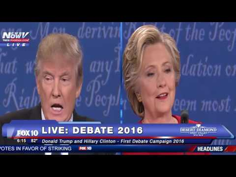 FULL DEBATE: Donald Trump And Hillary Clinton First Presidential Debate