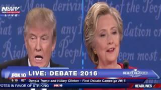 FULL DEBATE: Donald Trump And Hillary Clinton First Presidential Debate (FNN)