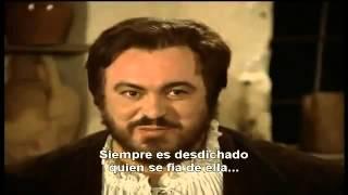 Pavarotti - La Donna e mobile (subtitulada Español)