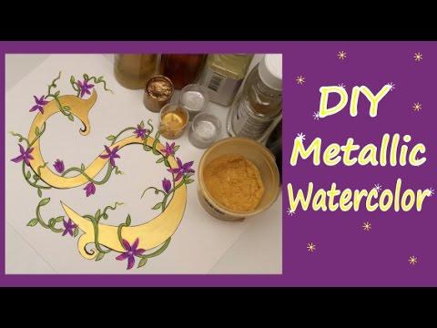 DIY- Metallic watercolor- speed paint