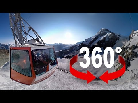 360° cable car | Europe's highest aerial cableway | Matterhorn, Switzerland