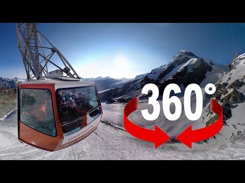 360° cable car | Europe's highest aerial cableway | Matterhorn, Switzerland