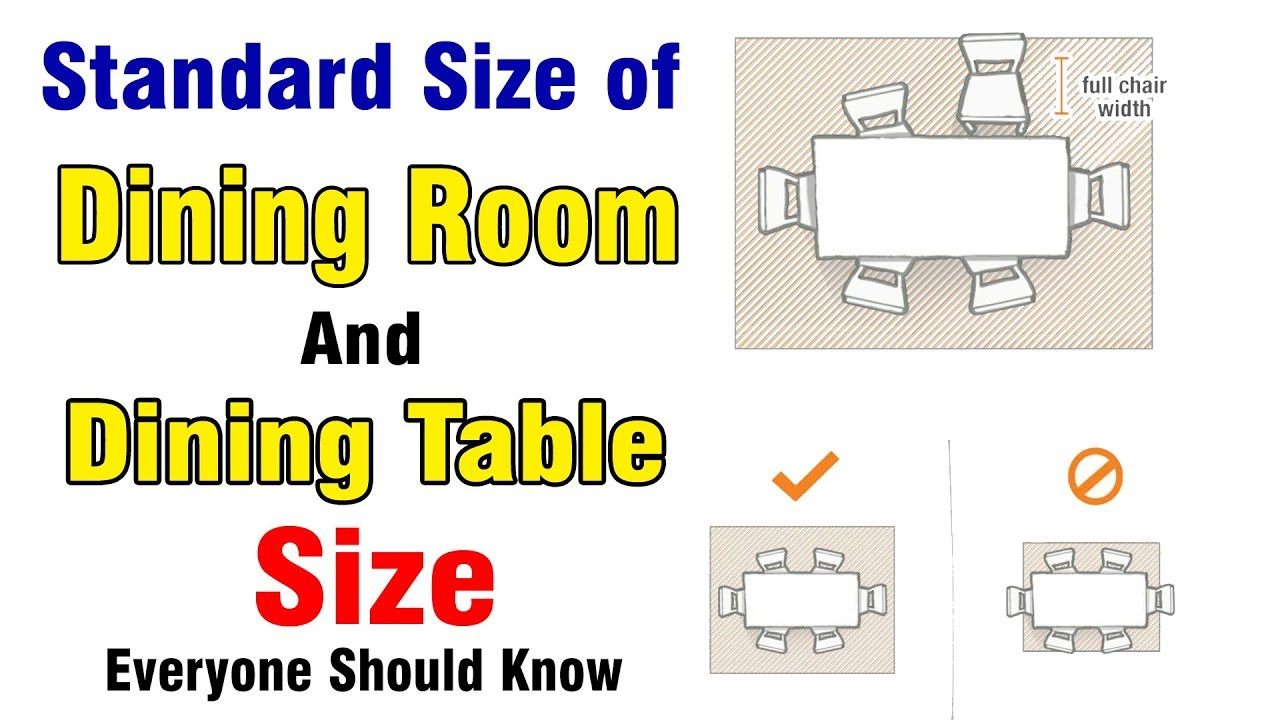 Standard Size Of Dining Room And Table Size Dining Table Size Youtube