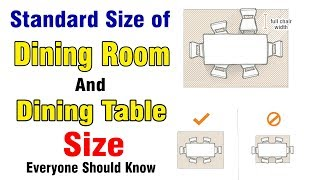 Table Size Dining, Standard Dining Room Table Size