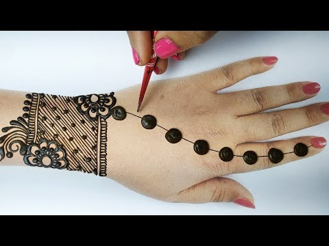 Latest Mehndi Design -आसान गोल टिक्की मेहँदी डिज़ाइन लगाना सीखे, Easy Mehndi Design for Backhand