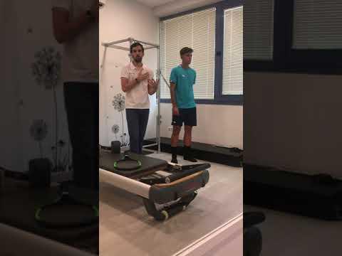 Pilates Fisioterapéutico para tenistas - Ejercicio dinámico de hombro - Transferencia al saque