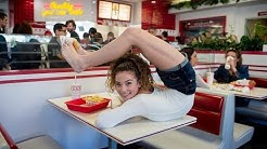Sofie Dossi BUSTED for eating with her feet at In & Out