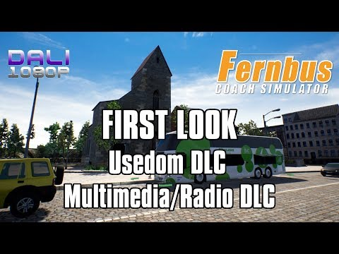 Fernbus Simulator - FIRST LOOK Usedom DLC + Multimedia/Radio DLC pc gameplay