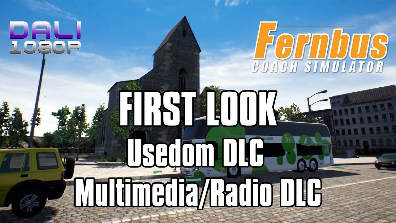 Fernbus Simulator - FIRST LOOK Usedom DLC + Multimedia/Radio DLC pc ...