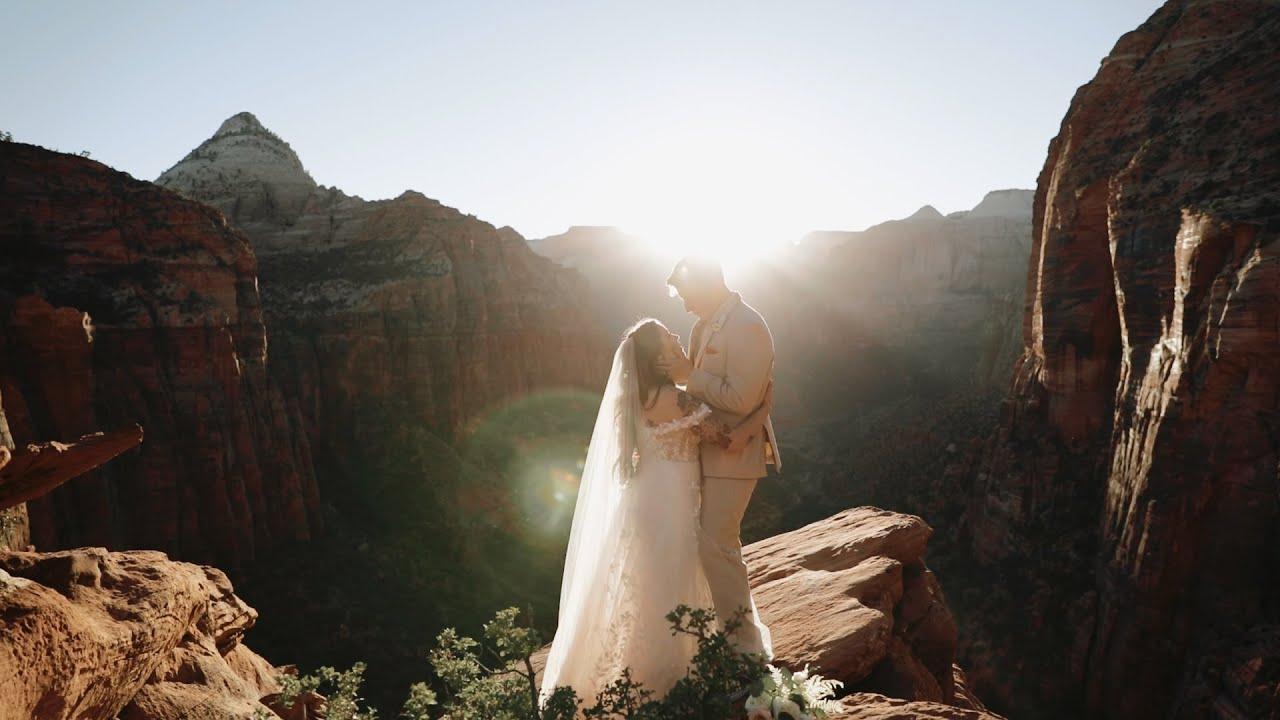 A Canyon Overlook Elopement | Adam & Shyanna | Utah Destination Elopement