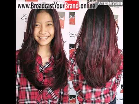 Burgundy Ombre Highlights For Black Hair Youtube