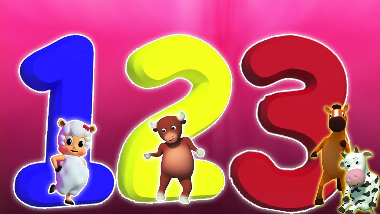 Número De La Canción Aprender Número Rima Niños Number Song 1 30 Kids Rhyme Kids Video Youtube