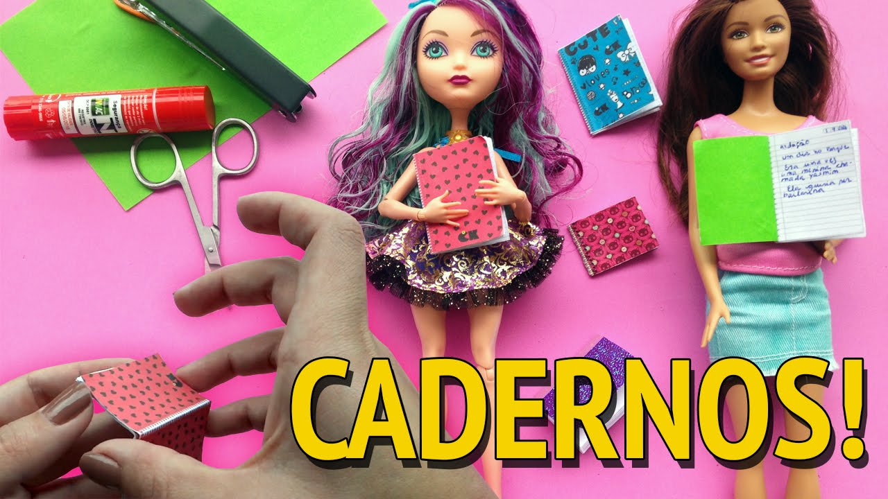Como Fazer Caderno Para Barbie E Outras Bonecas Youtube