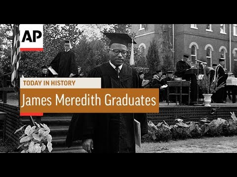 James Meredith Graduates - 1963 | Today In History | 18 Aug 17