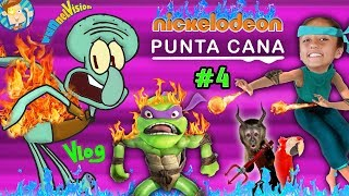 NICKELODEON Pet Monkey & Parrot! Spongebob Hotel Punta Cana Part 4 w  FUNnel Vision