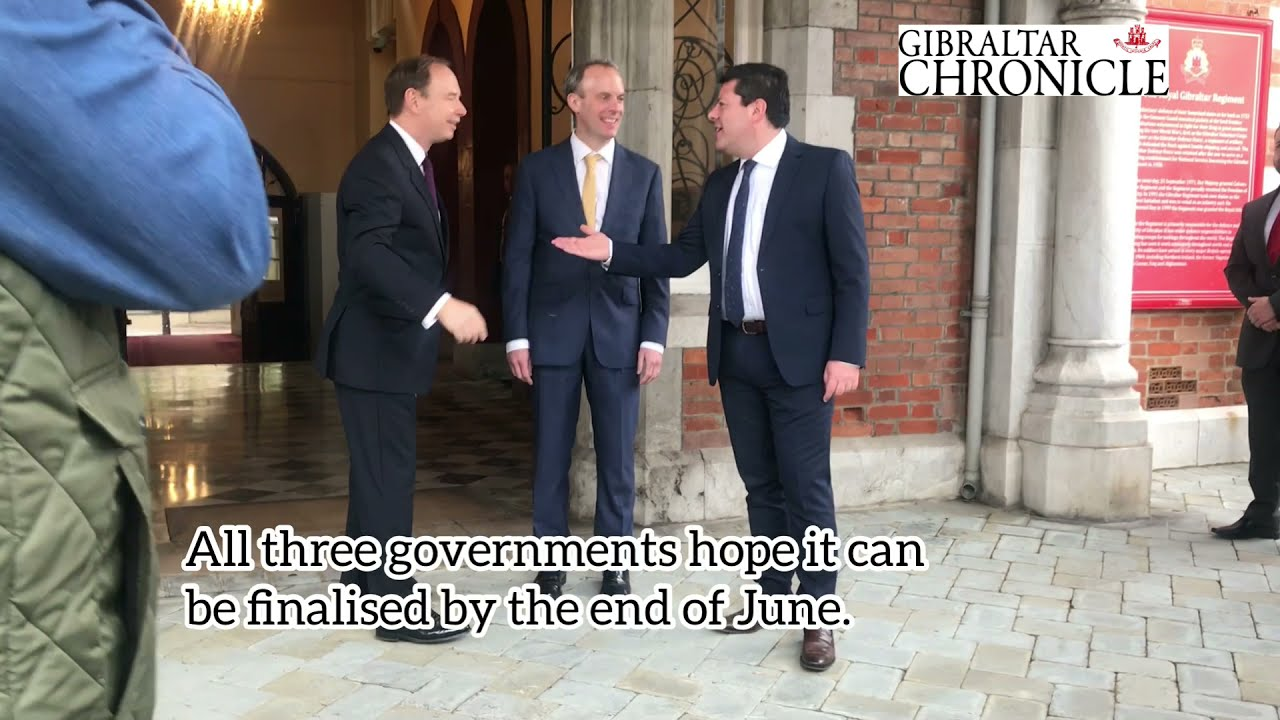 UK Foreign Secretary Dominic Raab visits Gibraltar