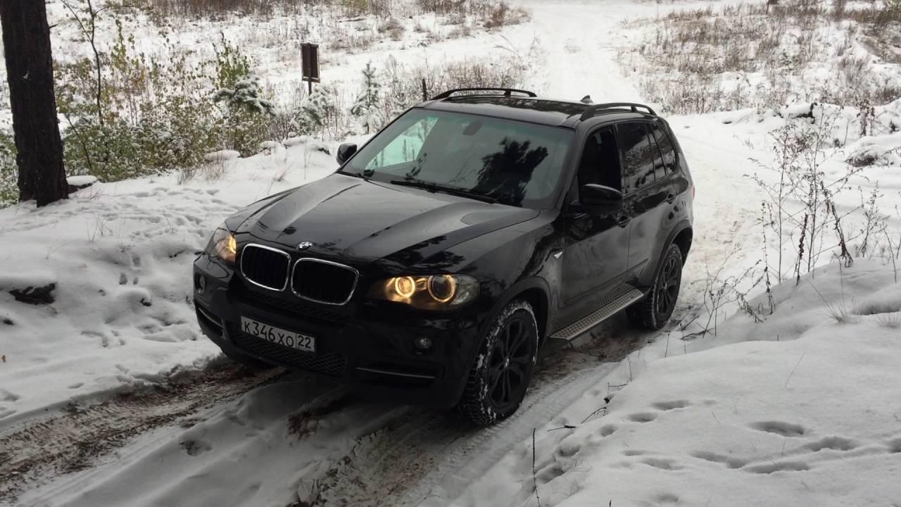 Тест драйв BMW X5 E70 в лесу