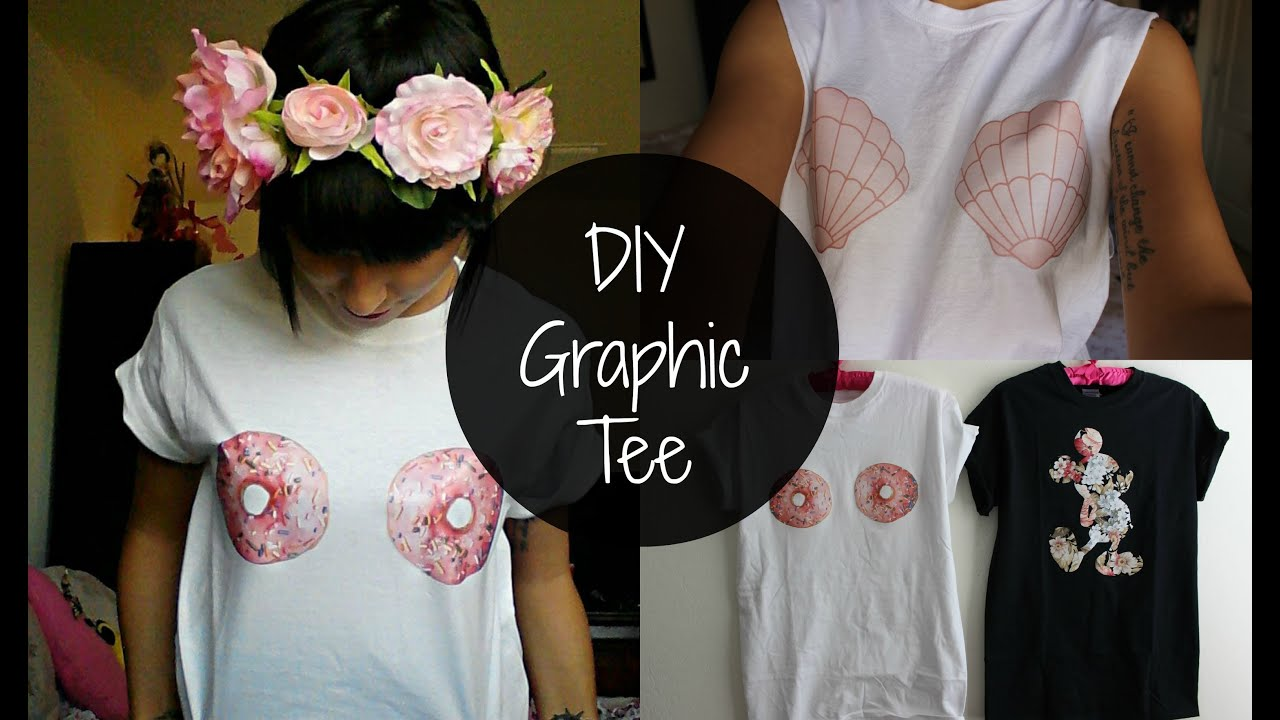 Diy Graphic Tee Youtube